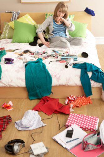 Teenage life goes hand in hand with untidy bedrooms.